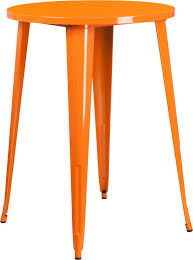 30 round bar table 30 round orange metal indoor outdoor bar height table multiple
