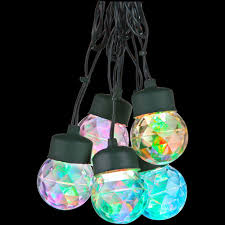 Star String Lights Indoor by Lightshow 8 Light Multi Color Round Projection String Lights With