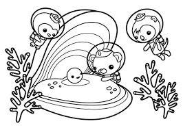 Octonauts Coloring Pages Tweak The Meet Sea Shell Page Download Octonauts Coloring Pages