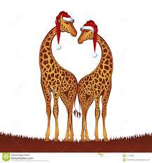 christmas giraffe clipart clipartxtras