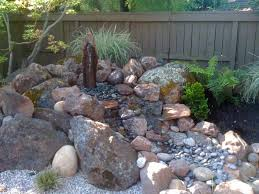 Rock Garden With Water Feature Rock And Water Gardens Pairing