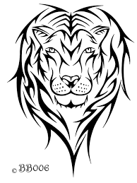 tribal lion head by blackbutterfly006 on deviantart