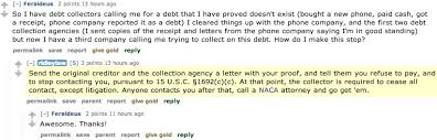 a simple way to get debt collectors to stop harassing you