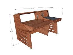 tv studio desk api 1608 studio desks model 1 1 sound construction u0026 supply