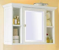 bathroom cabinets white medicine cabinet with mirror and lights