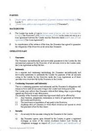 personal guarantee loan agreement business letter template for