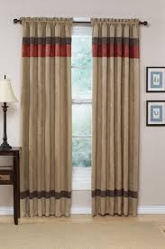 Red And White Striped Curtain Tan And White Horizontal Striped Curtains Horizontal Striped