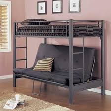 Cheap Futon Bunk Beds Roselawnlutheran - Metal bunk bed futon combo