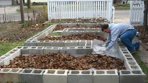 how to make a raised garden with cinder blocks home outdoor