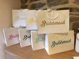 bridesmaid gift bags personalised bridesmaid gift bags any wording large a4