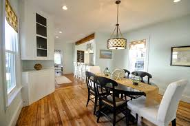 open kitchen and dining room natural unfinished wooden wall