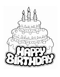happy birthday text wishes cake balloons coloring pages kids aim