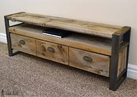 build a console table rustic media console table her tool belt