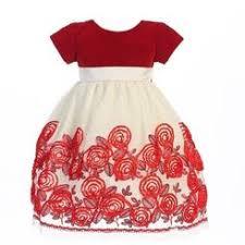 lito toddler christmas dress red plaid with velvet c814