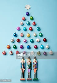 tree made of ornaments stock photo getty images