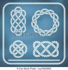 vectors of dividers set nautical ropes decorative vector knots