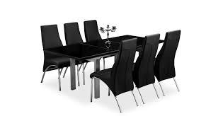 tribeca extending dining table black high gloss