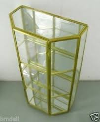 Antique Brass Display Cabinet Curio Display Cases Foter