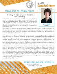 spring 2016 colloquium department of computer science