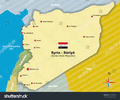 Map Of Syria by Syria Vector Map Syrian Arab Republic Stock Vector 315766481