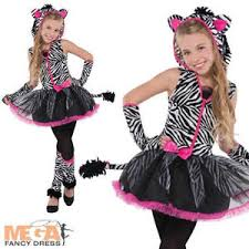 Halloween Costumes Zebra Sassy Stripes Zebra Girls Fancy Dress Animal Halloween Childrens