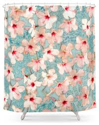 society6 shabby chic hibiscus patchwork pattern in peach and mint