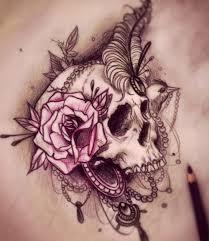 girly skull tattoos for skull designs