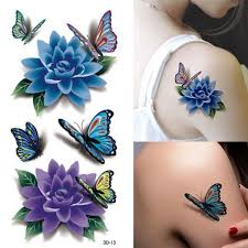 colorful 3d butterfly flower sticker waterproof