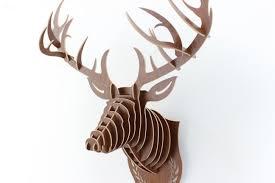 deer head home decor 2018 creative home decoration wood animals head crafts art home