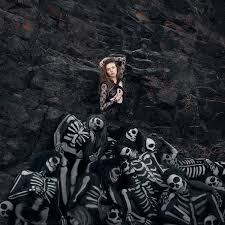 the skeleton queen spooky coastal photoshoot by rob woodcox