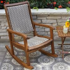 One Piece Rocking Chair Cushions Coral Coast Harrison Club Style Rocking Chair With Cushion Hayneedle