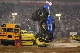 monster trucks nose stand wreck power sports