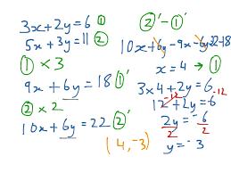 Gcse Simultaneous Equations Worksheet Showme Simultaneous Equations Substitution