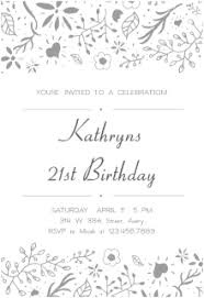 free printable 21st birthday invitation templates greetings island