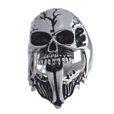 surgical steel band wraith phantom skull ring surgical stainless steel band