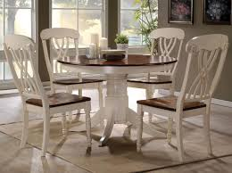 Kitchen Table And Chairs With Casters by Acme Furniture Dylan Five Piece Dining Table And Side Chair Set