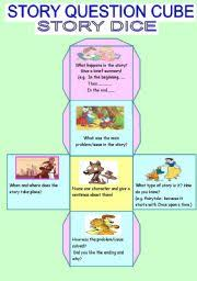 printable question dice english worksheets a story cube dice