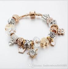 pandora bracelet murano glass images Fashion charm white murano glass crystal bead silver bracelets jpg