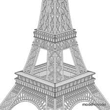 mini eiffel tower 3d cgtrader