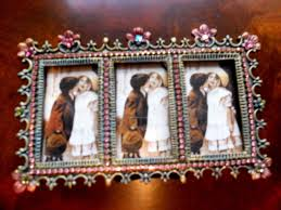 triple jeweled frame home decor signature interiors and gifts