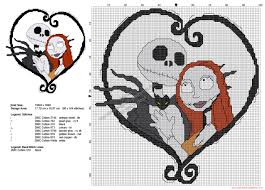 halloween cross stitch pattern jack and sally the nightmare before