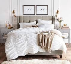 incredible hadley ruched duvet cover sham pottery barn within