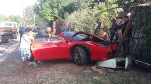 Ferrari 458 Spider - ferrari 458 spider damaged in south african crash gtspirit