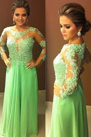 light green dress with sleeves free shipping long sleeve see through tulle lace chiffon light
