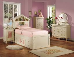 Zayley Twin Bedroom Set Acme Doll House Twin Bookcase Bed In Cream 02210t