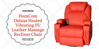 Back Massager For Chair Reviews Homcom Deluxe Heated Vibrating Pu Leather Massage Recliner Chair