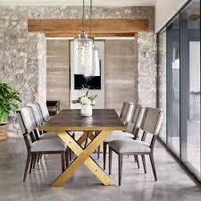 oak wood dining table burton polished brass x base oak wood dining table 99 zin home