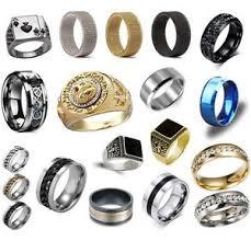 titanium band men s rings stainless steel brushed titanium onyx signet wedding