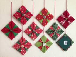 origami folded fabric ornaments through the of a quilter