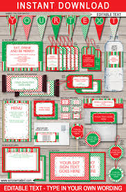 printable christmas gift tags party invitations u0026 decorations